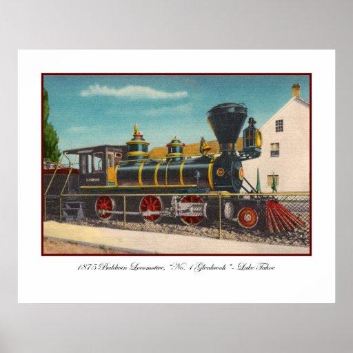 Poster de la locomotora del vintage