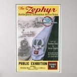 Poster de la locomotora del Zephyr de Burlington d Póster