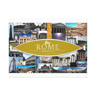 Poster de la lona con escenas de Roma Lona Estirada Galerias