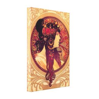 Poster de la lona de Alfonso Mucha Donna Orechini Lona Estirada Galerías