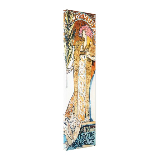 Poster de la lona de Alfonso Mucha Gismonda Impresiones En Lona