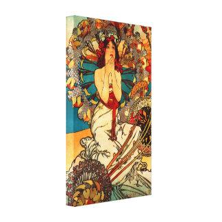 Poster de la lona de Alfonso Mucha Monte Carlo Impresion En Lona