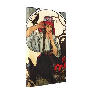 Poster de la lona de Alfonso Mucha Moravian Impresión En Lienzo Estirada