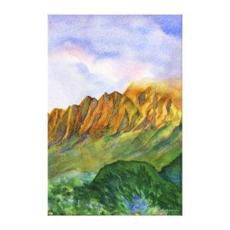 Poster de la lona de Hawaii de los acantilados de Impresion De Lienzo