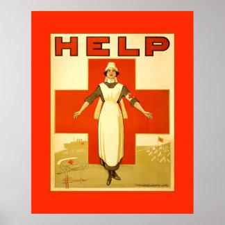 Poster de la lona de la guerra mundial del vintage
