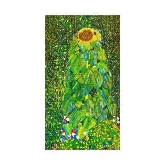 Poster de la lona del girasol de Gustavo Klimt Lienzo Envuelto Para Galerías