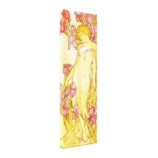Poster de la lona del iris de Alfonso Mucha Lienzo Envuelto Para Galerias