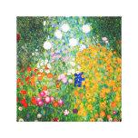 Poster de la lona del jardín de flores de Gustavo  Impresión En Lona Estirada