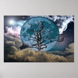 Poster de la luna azul