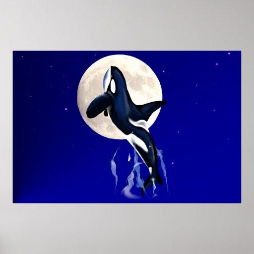 Poster de la luna de la orca