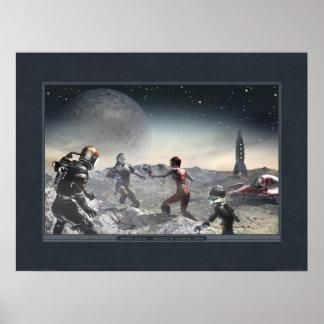 """Poster de la luna de la pradera (24x18"""")"""