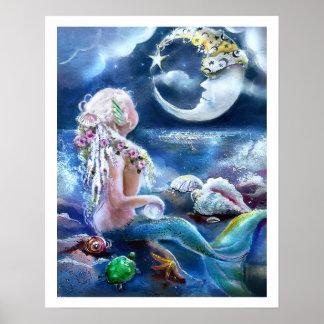 Poster de la luna y de la sirena