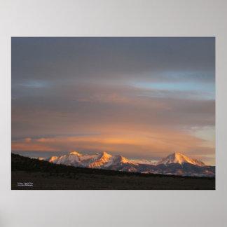 Poster de la luz de la mañana del Mt. Lindsey
