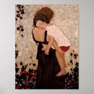 Poster de la madre y del niño póster