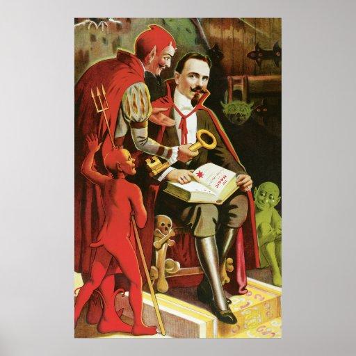 Poster de la magia de Alexander Federico del vinta