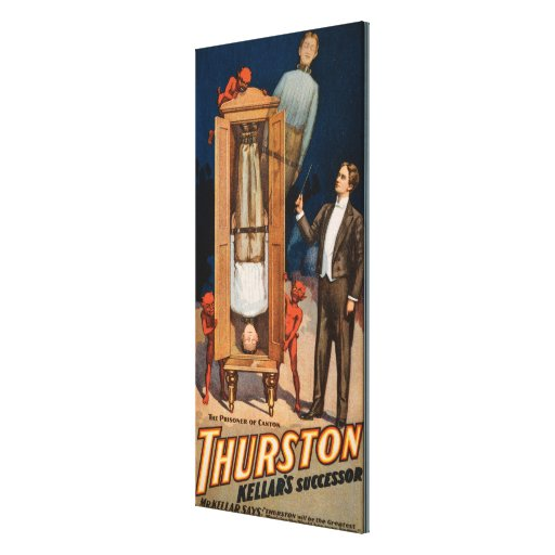 Poster de la magia del sucesor de Thurston Kellar Impresion En Lona