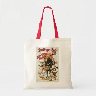 Poster de la magia del vintage; Mago Chungkin Ling Bolsa De Mano