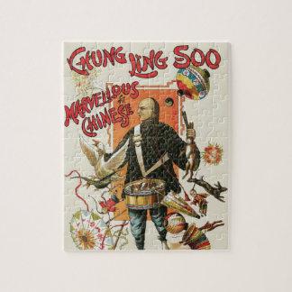 Poster de la magia del vintage; Mago Chungkin Ling Rompecabezas Con Fotos