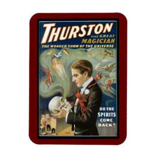Poster de la magia del vintage; Thurston, el gran  Imán