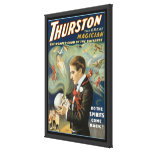 Poster de la magia del vintage; Thurston, el gran  Impresion De Lienzo