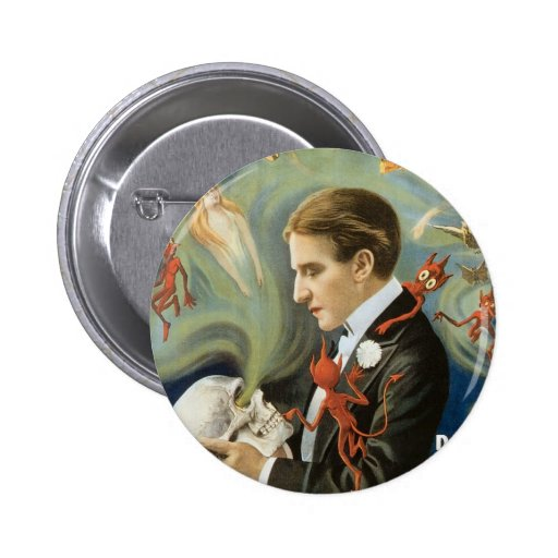Poster de la magia del vintage; Thurston, el gran  Pins