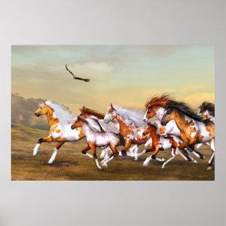 Poster de la manada de los caballos salvajes