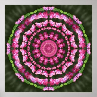 Poster de la mandala 2 del cactus de navidad