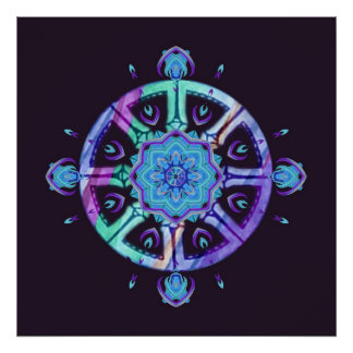 Poster de la mandala de la meditación de Dharma y