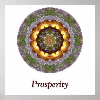Poster de la mandala de la prosperidad