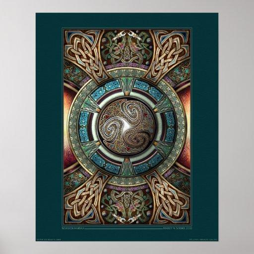 "Poster de la mandala de Triskelion (16x20"")"