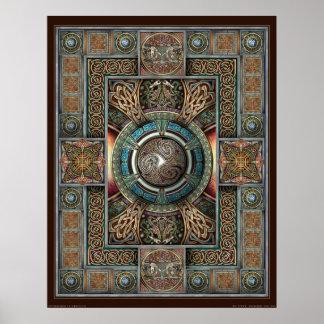 """Poster de la mandala II de Triskelion (22x28"""")"""