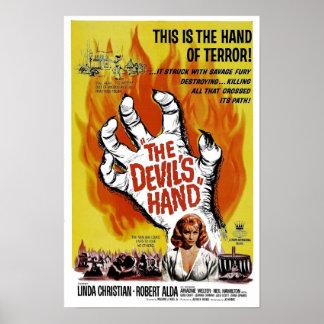 """Poster """"de la mano del diablo"""""""