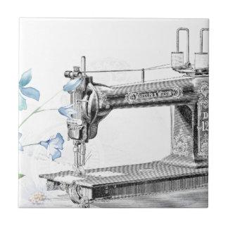 Poster de la máquina de coser azulejo cuadrado pequeño