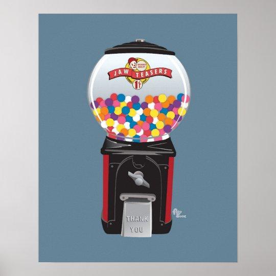 Poster de la máquina de Gumball Póster
