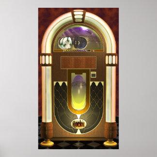 Poster de la máquina tocadiscos