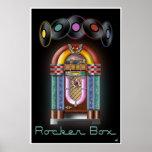 Poster de la máquina tocadiscos de la caja del eje