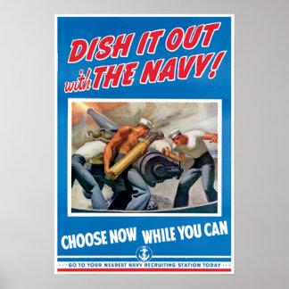 Poster de la marina de guerra de la guerra mundial