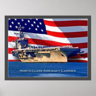 poster de la marina de guerra de portaaviones del