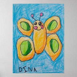 Poster de la mariposa de Dina