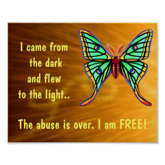 Poster de la mariposa de los supervivientes del ab