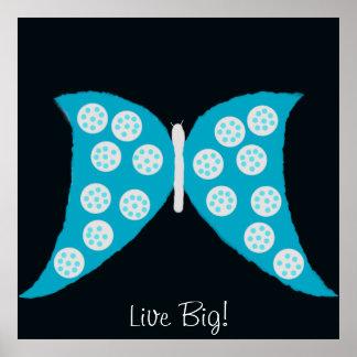 """Poster de la """"mariposa grande viva"""""""