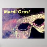 Poster de la máscara del carnaval