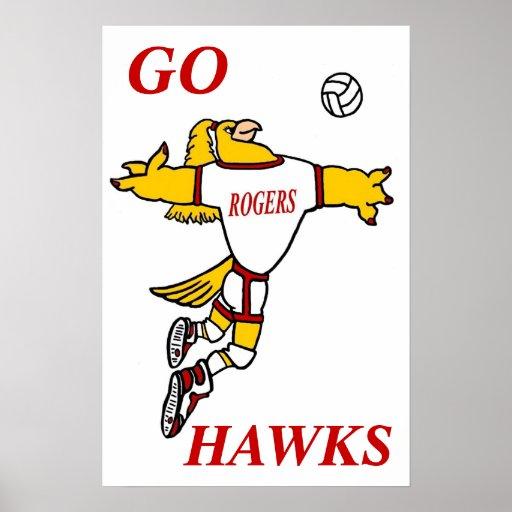 Poster de la mascota del voleibol de GHawk