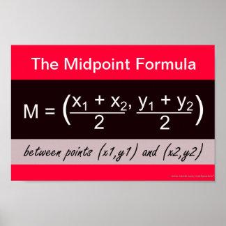 Poster de la matemáticas de la fórmula del punto