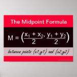 Poster de la matemáticas de la fórmula del punto m