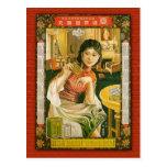 Poster de la medicina de Gu Hui Chun Tang China 19 Tarjeta Postal