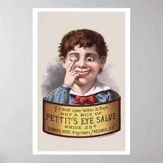 Poster de la medicina del vintage
