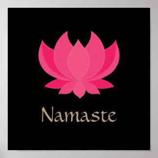 Poster de la meditación de la flor de Lotus