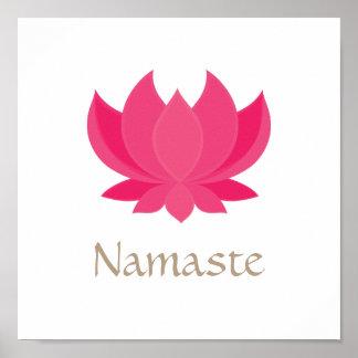 Poster de la meditación de la flor de Lotus Póster