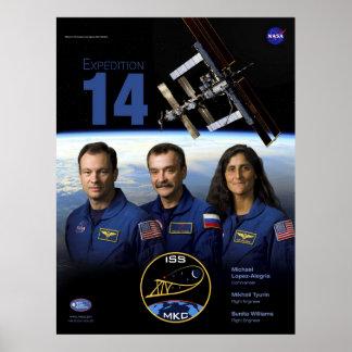Poster de la misión de la expedición 14 del ISS